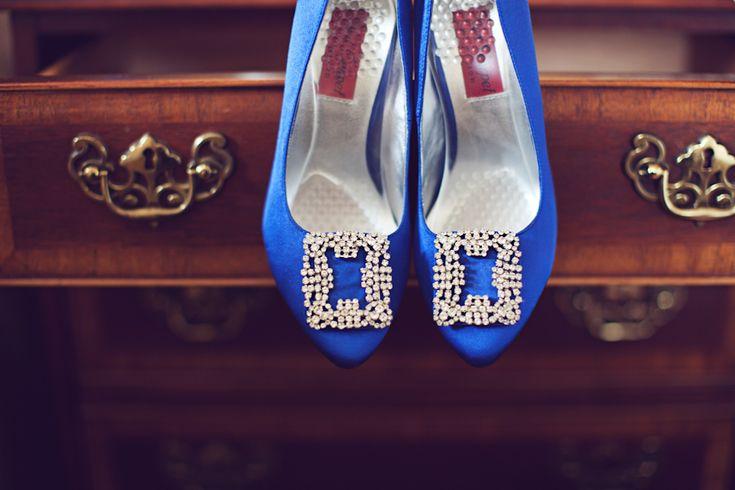 Zapatos de novia azules 11