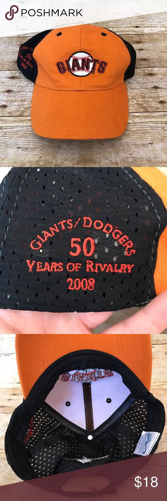 ⚾️San Francisco Giants Baseball Cap - SnapBack hat Excellent Condition - One size - adjustable - SF (San Francisco) Giants Baseball 2008 Dodgers rivalry game day giveaway hat. ‼️FAST SHIPPING‼️ ⚾️⚾️⚾️ SF Giants Accessories Hats