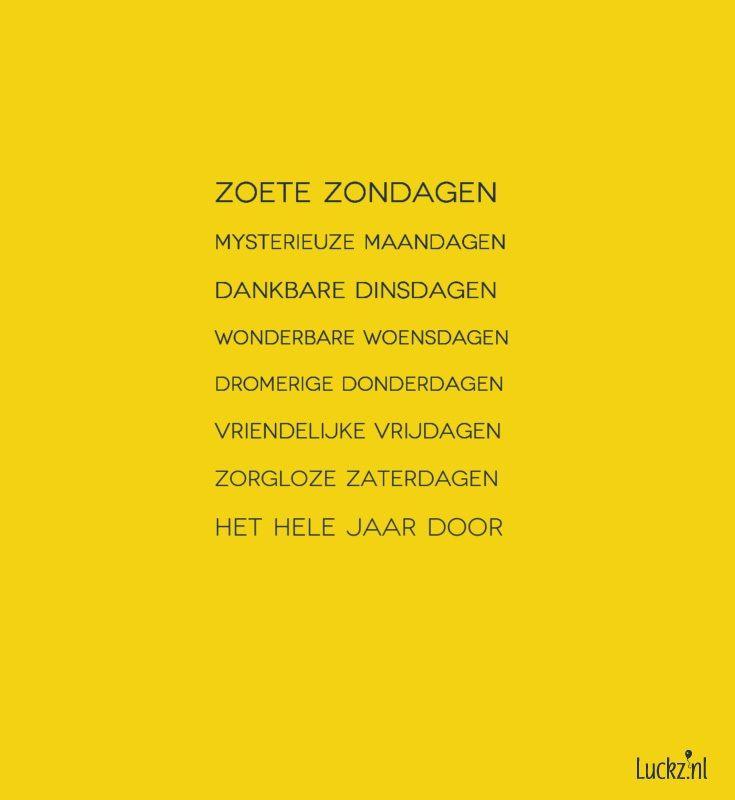 Zoete zondagen, leuke kerstwens. Luckz.nl ★ voor meer kerstgedichten, wensen en teksten.