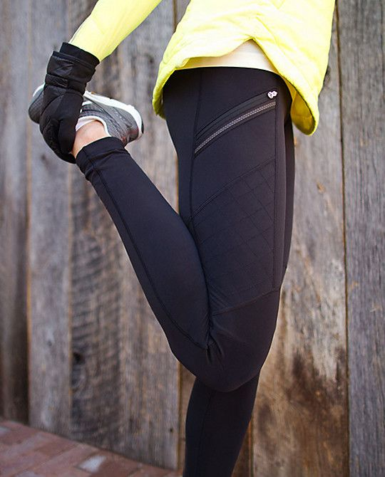 Lululemon. Perfect for winter Vancouver running. Toasty Tech Tight