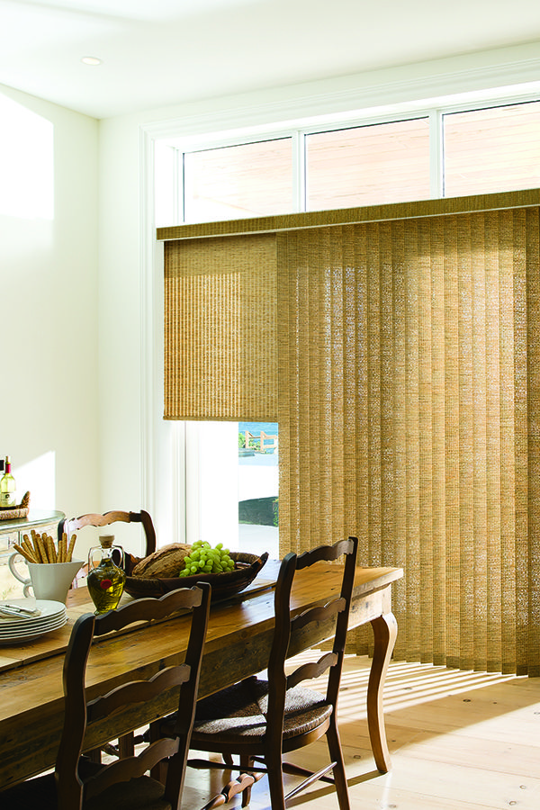 Levolor Custom Vertical Blinds In Origami Flax Custom Vertical Blinds Vertical Blinds Modern Blinds