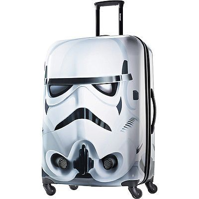 """storm trooper suit case American Tourister Star Wars All Ages 28"""" Spinner Hardside Luggage NEW"""