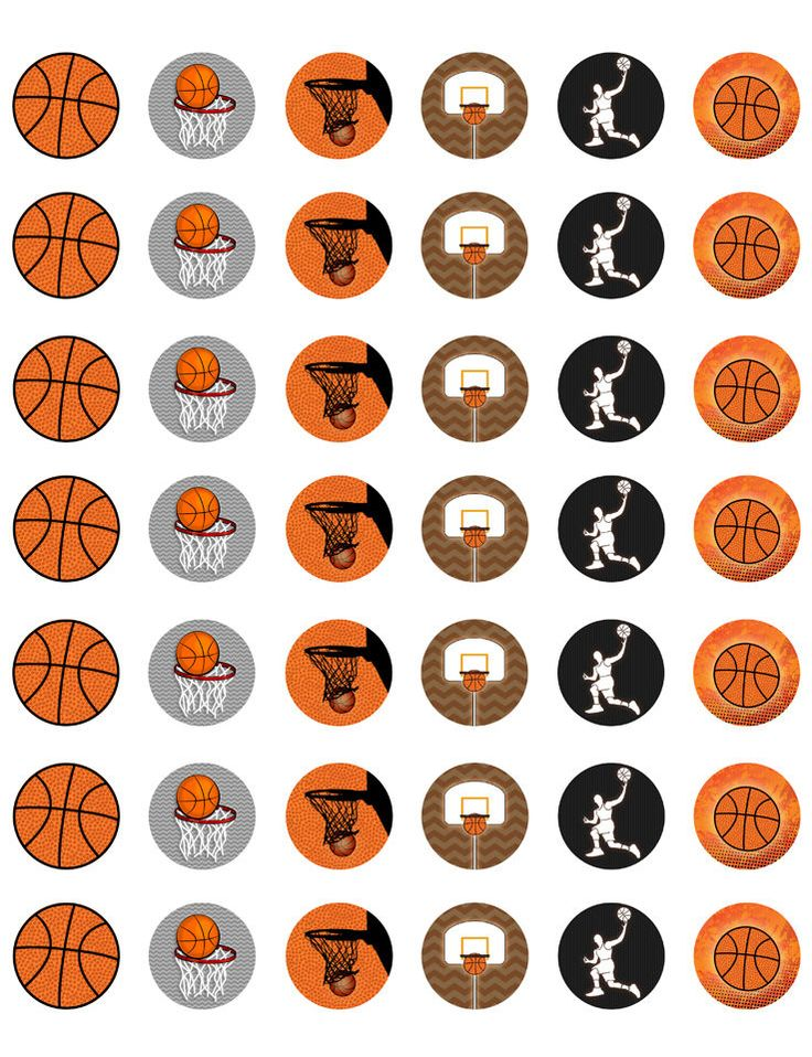 Basketball Themed PRINTABLE Bottle Cap Images ~ Template of 42!