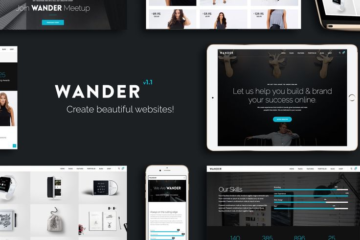 Wander | The Multi-Purpose Template by VossenDesign on Envato Elements