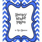 If you are looking to create a literacy or writing binder for the students in your class, this is a great place to start!  Inside you will find:  -A...
