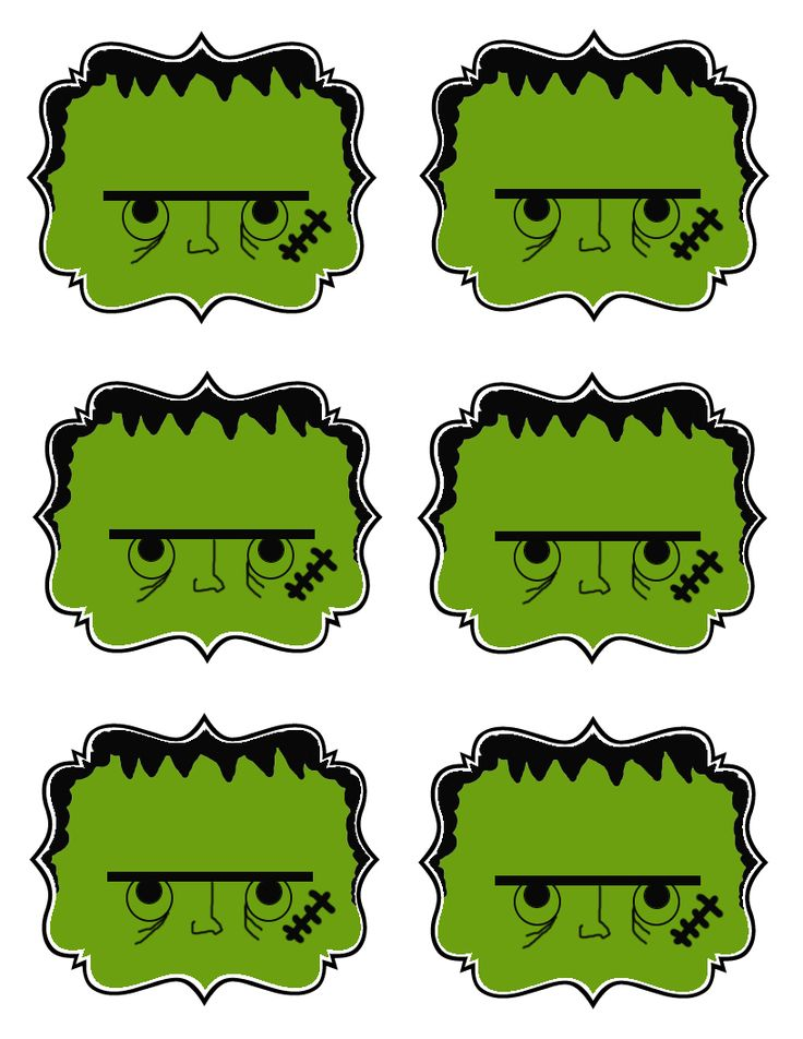 FREE printable Halloween Gift Tags: Frankenstein, Spiders, Ghosts, Pumpkins, Mummies!