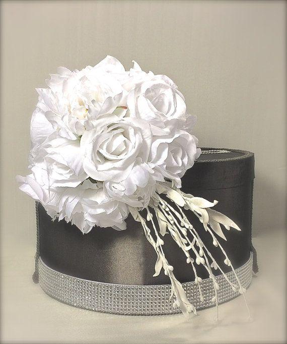Ascot Wedding Card Holder Wedding Card Box Ivory by WrapsodyandInk