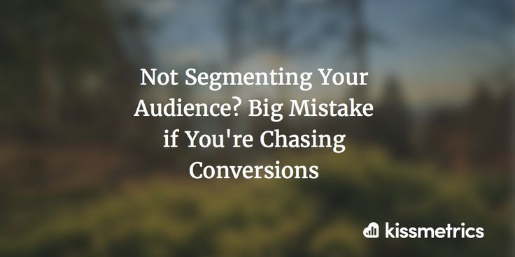 Not Segmenting Your Audience? Big Mistake if You're Chasing Conversions