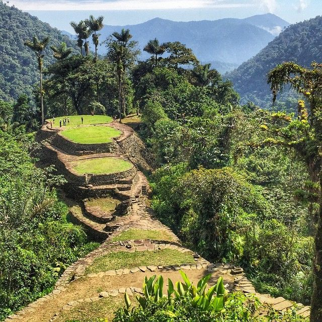 Overlooking the upper chambers of Teyuna (The Lost City), Colombia -- at 1300m (4265 ft) on a mountain ridge in the Sierra Nevada range. It's believed that this capital of the Tayrona civilization was built in 800A.D., pre-dating Machu Picchu by 600 years. It's estimated that the visible excavated portions of the site, including 169 stone terraces, might only account for 10% of what's actually underneath. Buried history. via Instagram http://ift.tt/1KNvh10