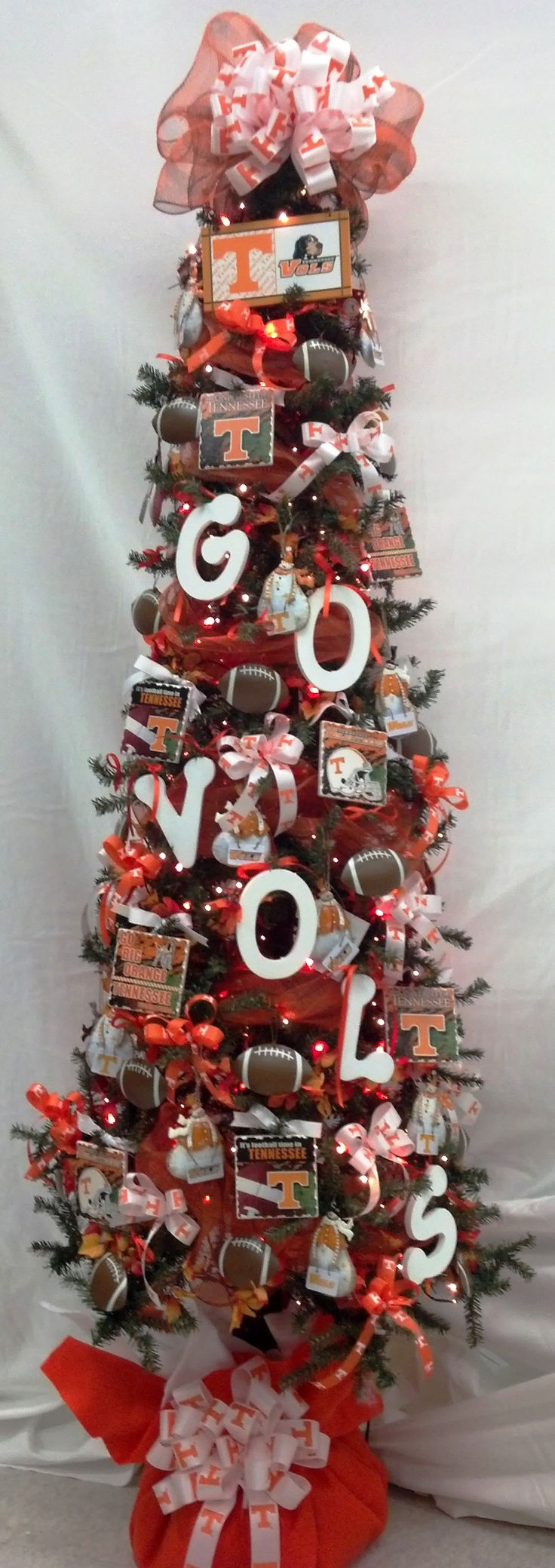Custom made Tennessee Vols Christmas Tree!  Go Vols!!!! @Kristin Orsbon this is going to be your tree this year lol
