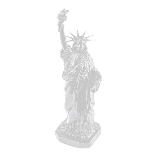 Statue de la liberté en résine - 8,8 x H 30 cm - Différents coloris