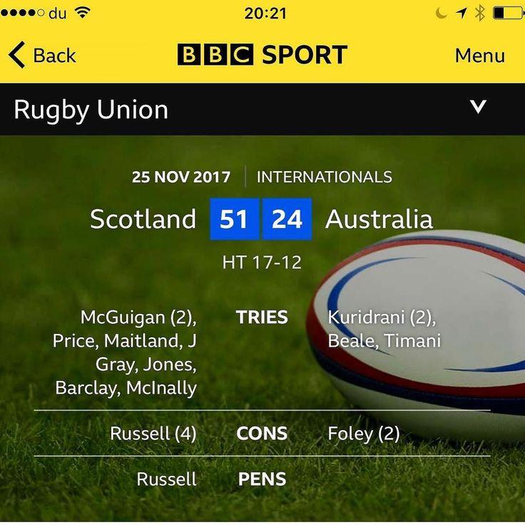 Wha's like us! #sru #scotland #scottishrugby #murrayfield #australia #rugby #rugbyunion #rugbyunion #edinburgh