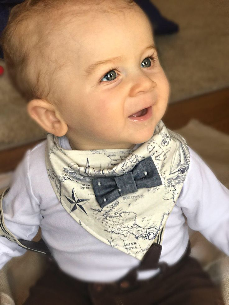 A personal favorite from my Etsy shop https://www.etsy.com/listing/500324366/baby-bow-tie-bandana-baby-boy-gift-baby