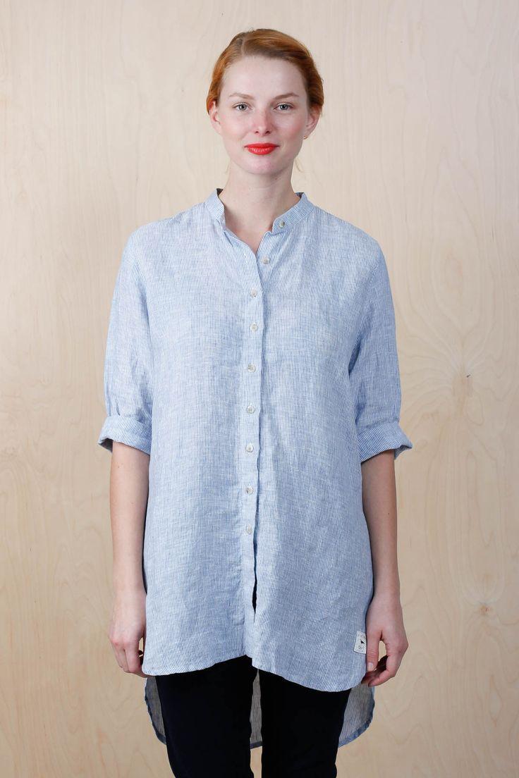 EM Cleo Shirt Linen Striped - emma och malena