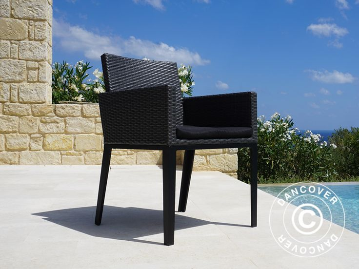 POLY RATTAN GARDEN CHAIR MIAMI, 2 PCS., GREY CosyLifeStyle® by Dancover is an exclusive series with garden furniture in maintenance free materials and a light, modern design. #inspiration #chair #decoration #moderndesign