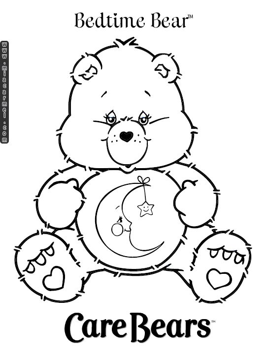 bed time coloring pages - photo #43
