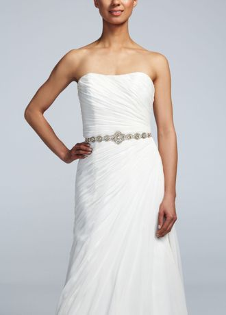 Elegant Add a special touch to your wedding dress with this gorgeous gold embellished sash Self tie back ensures perfect fit Fully lined Dry clean only