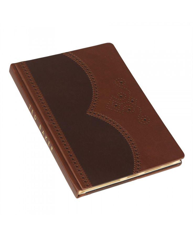 Ted Baker Brown Brogue Medium Notebook