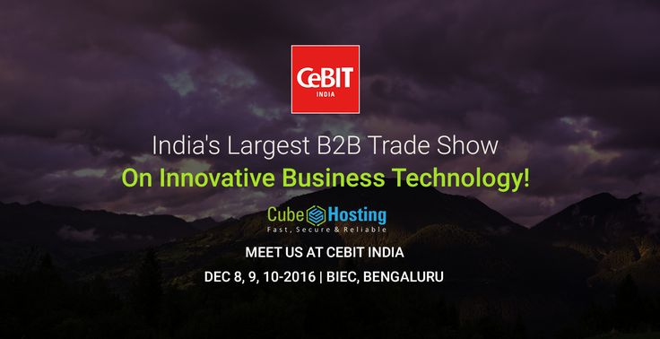 From December 8th to 10th, 2016 #CeBIT in Bangalore, India is scheduled to be held. #CubeHosting the leading #Hosting company, will attend the event and if you are keen to meet us, please write to us at info@cubehost.in and we will fervently schedule a meeting at the venue - https://goo.gl/F2GUQ6