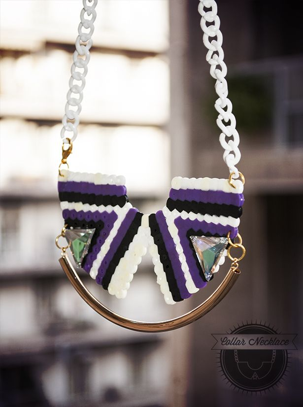 Gothic Stripes Collar Necklace