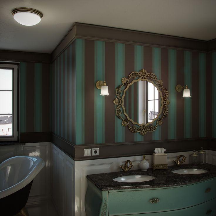 Kinkiety łazienkowe w kształcie klasycznych kielichów kwiatowych. Wysoka klasa szczelności i szlachetny materiał: oksydowany mosiądz i szkło. Aurora Satina.