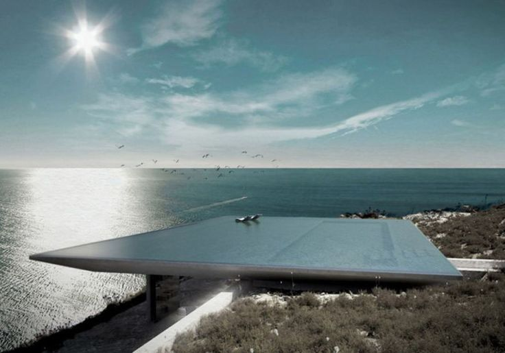 Mirage House by Kois Associated Architects 1 Unique Rooftop Infinity Pool Floating Above Unspoiled Greek Island Scenery