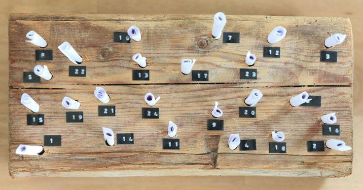 WOHN:PROJEKT - der Mama Tochter Blog für Interior, DIY, Dekoration und Kreatives : Weihnachten/DIY: Der schnelle Adventskalender aus Holz und Papier, der sogar nach Weihnachten noch Verwendung findet