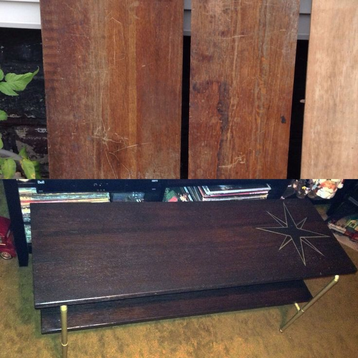 Antique table leaves and copper pipe up cycled into coffee table.