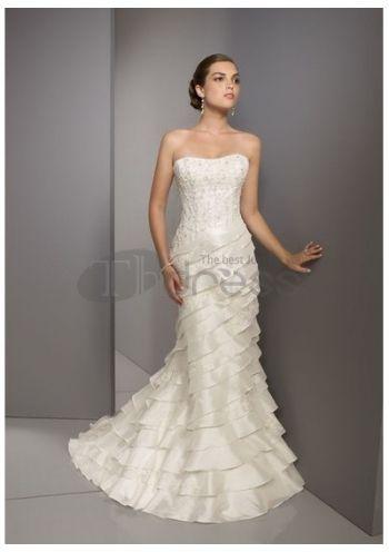 Abiti da Sposa Senza Spalline-Tesoro caldo vendere abiti da sposa senza spalline alla moda