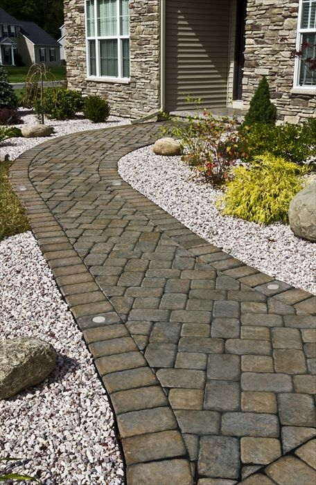 Walkways Are Another Great Place To Use Rock Or Stone