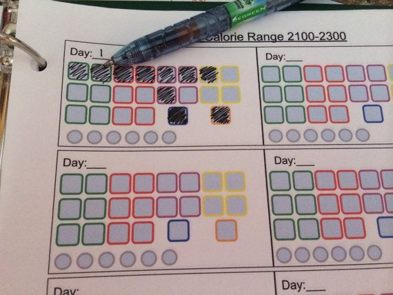 21 Day Fix: Log Sheets for use with the 21 Day Fix program by TheTrickyWiget