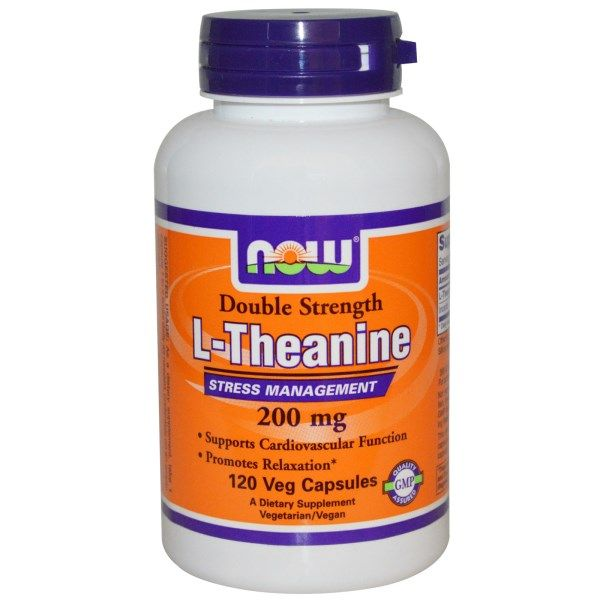 Now Foods, L-Theanine, Double Strength, 200 mg, 120 Veggie Caps  #stress #formula #support #balance #management #iherb #thingstobuy #shopping #relief