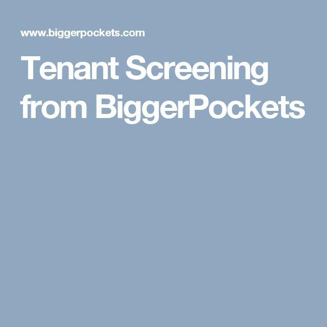 Tenant Screening from BiggerPockets