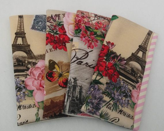 Eyeglass fabric case  City of Paris by morethanjustquilts on Etsy