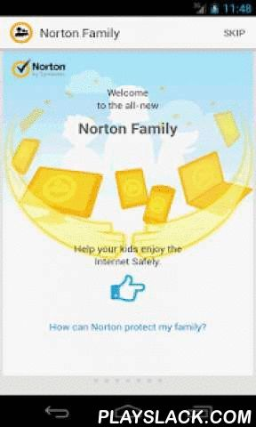 """Norton Family Parental Control  Android App - playslack.com ,  """"Norton Family Premier offers an impressive range of parental control and monitoring features for parents of today's hyper-connected kids.""""~ Neil J. Rubenking, Reprinted from www.pcmag.com with permission. © 2016 Ziff Davis, LLC. All Rights Reserved. The Norton Family app[1], from the makers of Norton Security, helps teach your kids safe habits for Web exploration and helps you stay in the know about where your kids are…"""