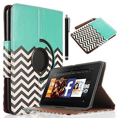 "Amazon.com: Kindle Fire HD 7 Case, ULAK Unique Wallet Magnetic Buckle 360 Degree PU Leather Case Cover for Amazon Kindle Fire HD 7"" (2012 Previous Model) with Auto Sleep-Wake Function and Screen Protector with Stylus (Not Fit All New Kindle Fire HD 2013 Model and Kindle Fire HDX), Follow the sky: Electronics"