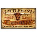 Cattleman's Vintage Western Decor Sign