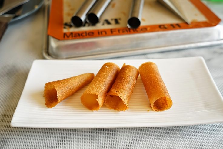 http://www.chefrachida.com/paillete-feuilletine-and-crepes-dentelles-lacey-crepes/