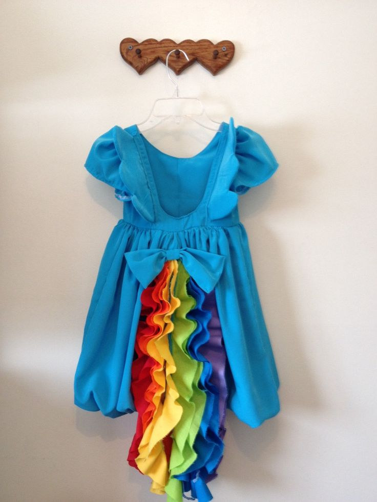 Rainbow Dash inspired dress or costume by HomemadeElegance on Etsy