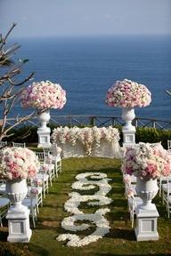 www.becketttravel.com White and Blush Pink Wedding Ceremony
