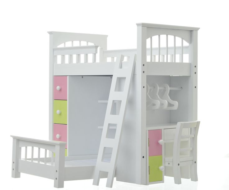 9 Best Doll Beds Images On Pinterest Doll Furniture Doll Accessories And Doll Bunk Beds