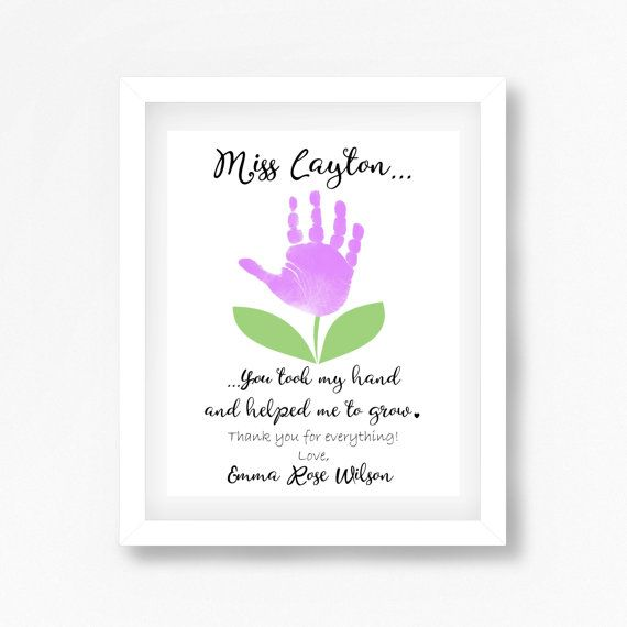 Daycare Teacher Gift Personalised Teacher by PerfectLittlePrints                                                                                                                                                      More