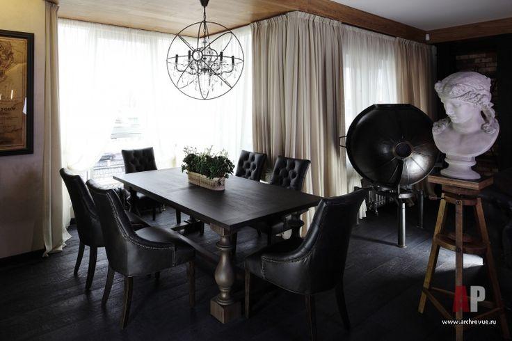 Фото интерьера столовая квартиры в современном стиле