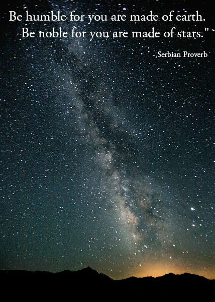 Serbian proverb with a glorious photo of the Milky Way taken by Steve Jurvetson.:
