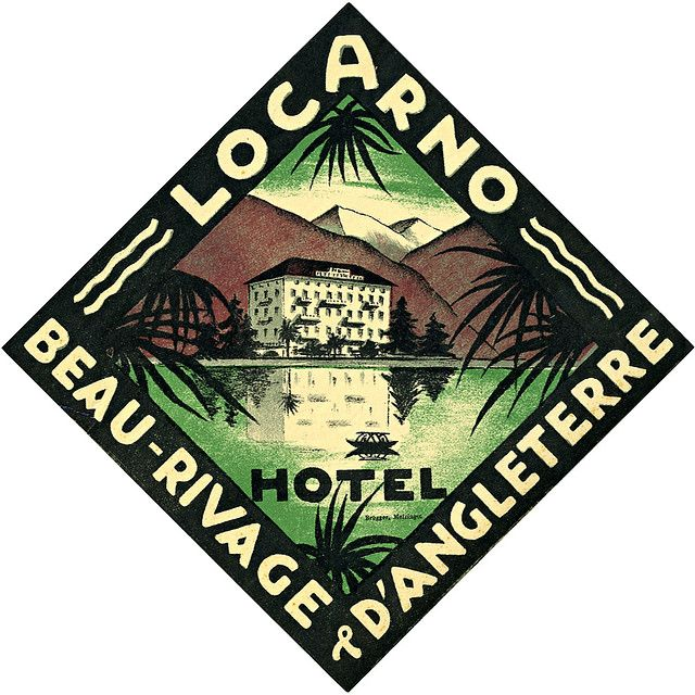 Beau-Rivage D' Angleterre   Locarno (The Lost Art of Hotel Luggage Labels)