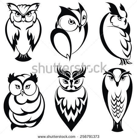 Stock Images similar to ID 133546253 - head of horned owl. vector...