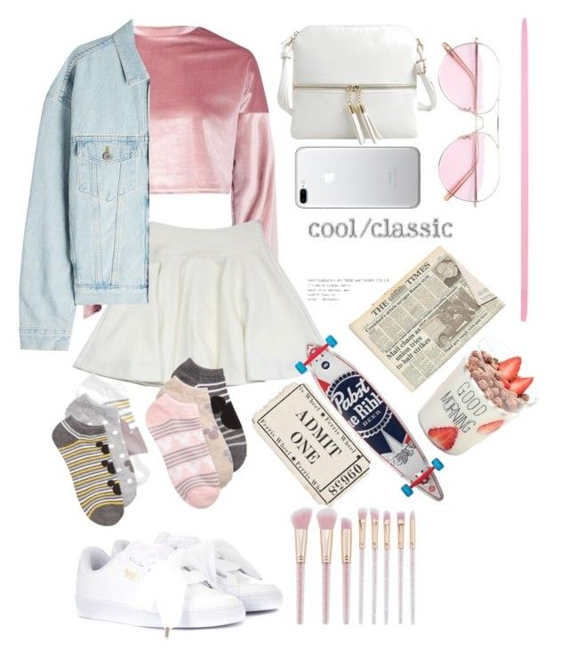 haha cute by jihan-heryawan on Polyvore featuring polyvore fashion style Boohoo Yeezy by Kanye West Milly Disney Puma Epic Chic Oliver Peoples clothing