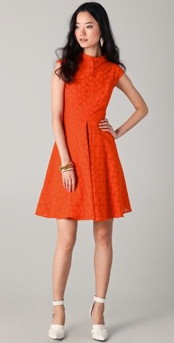 Milly    Avery Cap Sleeve Dress  Style #:MILLY40266  $450.00    $225.00 (50% off): Tangerine