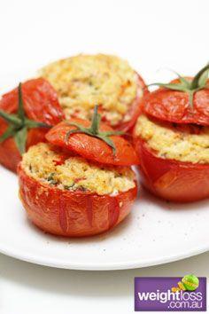 Stuffed Tomatoes. #HealthyRecipes #DietRecipes #WeightLossRecipes weightloss.com.au