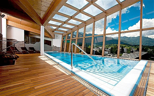 154 best pools images on pinterest for Indoor swimming pool in lebanon